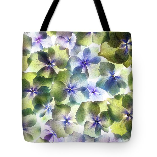 Tote Bag featuring the photograph Hydrangae Squared by Rebecca Cozart