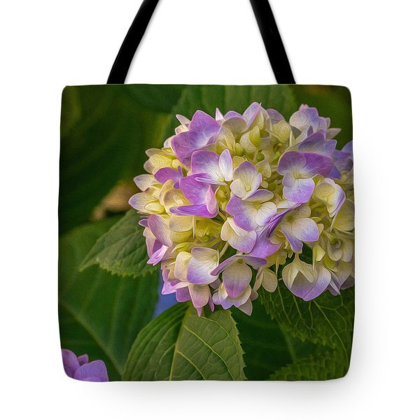 Tote Bag featuring the digital art Hydrangea 2 by Keith Smith