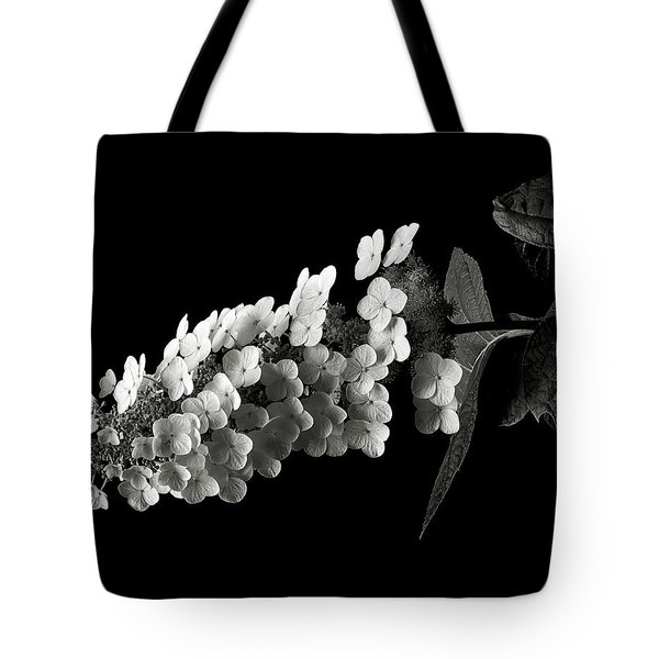 Hydrangea In Black And White Tote Bag