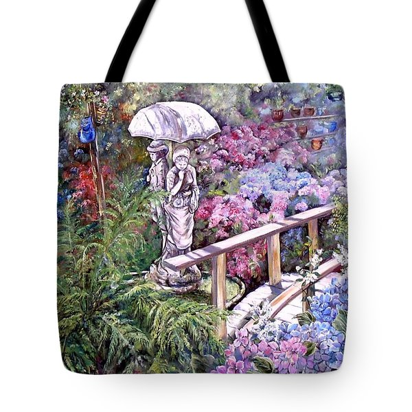 Hydrangea In The Formosa Gardens Tote Bag