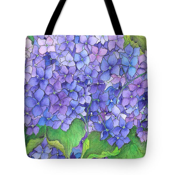 Hydrangea Purple Blue Tote Bag