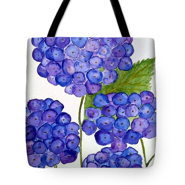 Tote Bag featuring the painting Hydrangea by Reina Resto