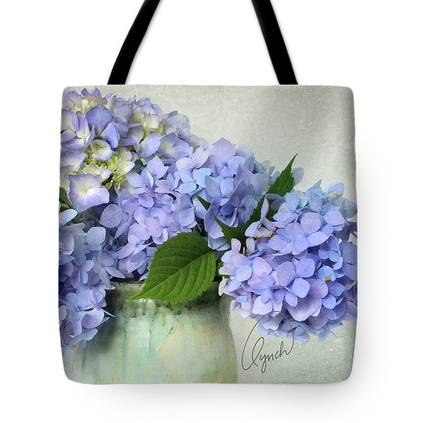 Hydrangea Signed Tote Bag