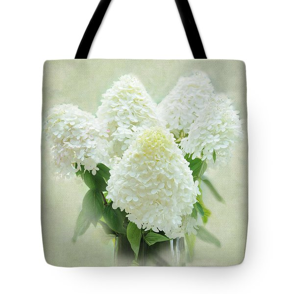 Tote Bag featuring the photograph Hydrangeas by Geraldine Alexander