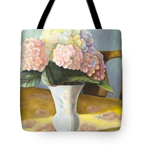 Hydrangeas Tote Bag by Marlene Book