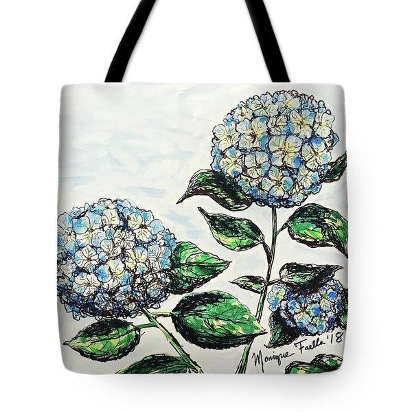 Tote Bag featuring the photograph Hydrangeas by Monique Faella