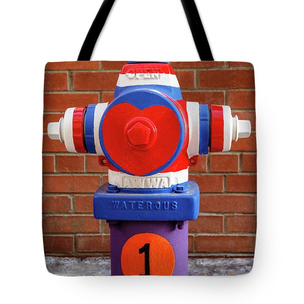 Tote Bag featuring the photograph Hydrant Number One by James Eddy