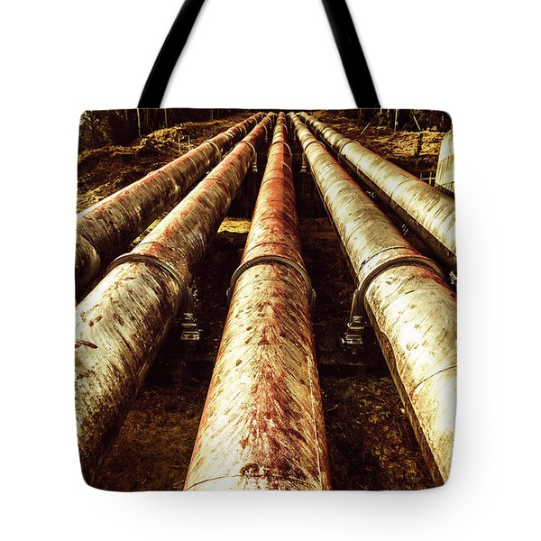 Hydroelectric Pipeline Tote Bag