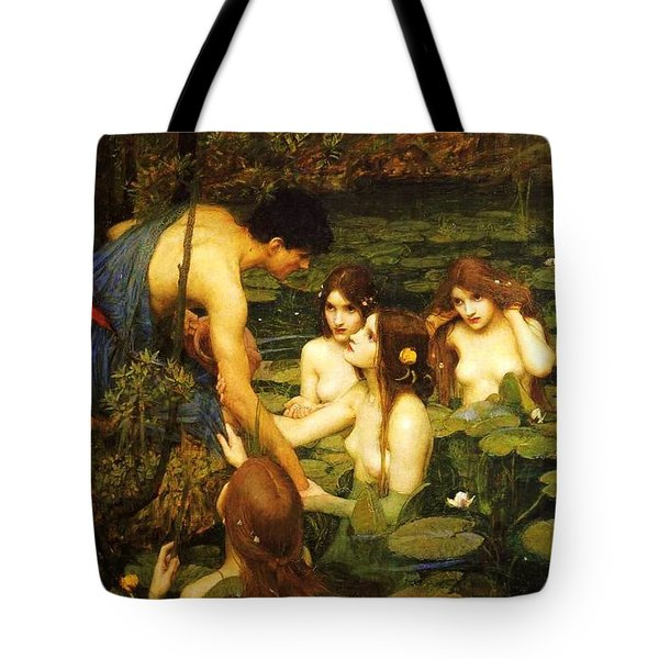 Hylas And The Nymphs Tote Bag by Pg Reproductions