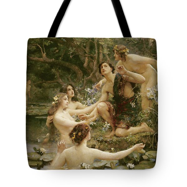 Hylas And The Water Nymphs Tote Bag