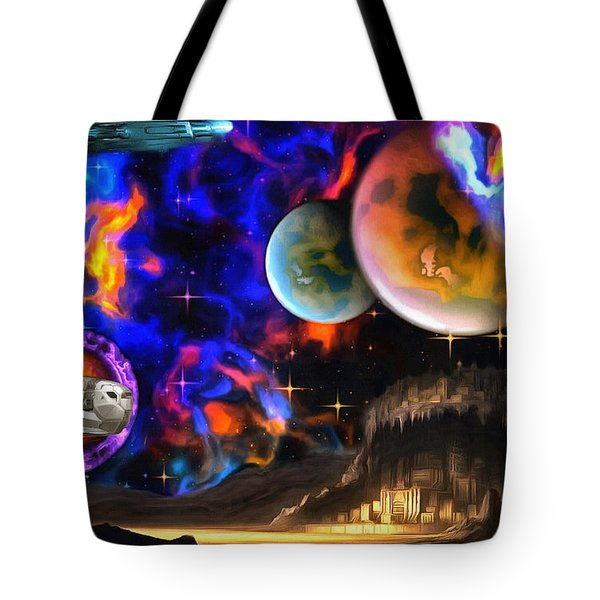 Hyperactivity Sector X66 In The Andromeda Gallaxy Tote Bag
