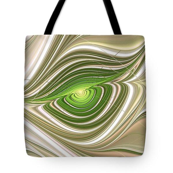 Tote Bag featuring the digital art Hypnotic Eye by Anastasiya Malakhova