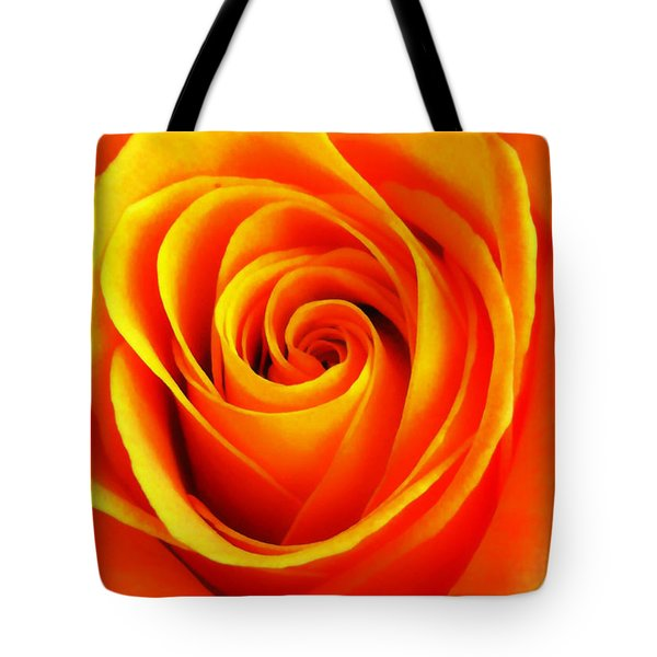 Hypnotic Orange Tote Bag