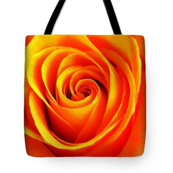 Hypnotic Orange Tote Bag