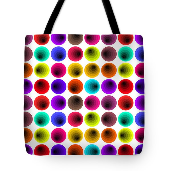 Hypnotized Optical Illusion Tote Bag