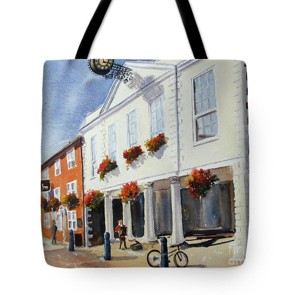 Tote Bag featuring the painting Hythe Town Hall by Beatrice Cloake