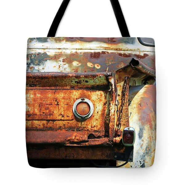 Tote Bag featuring the photograph I Am A Little Rusty by Christopher McKenzie
