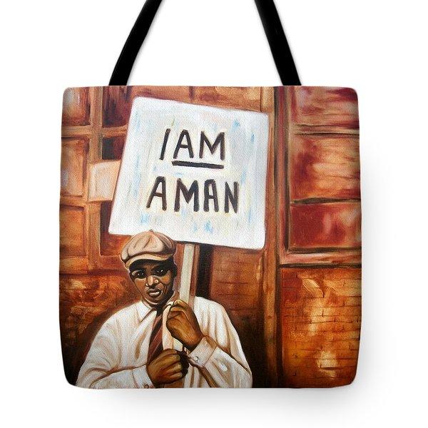 I Am A Man Tote Bag by Emery Franklin