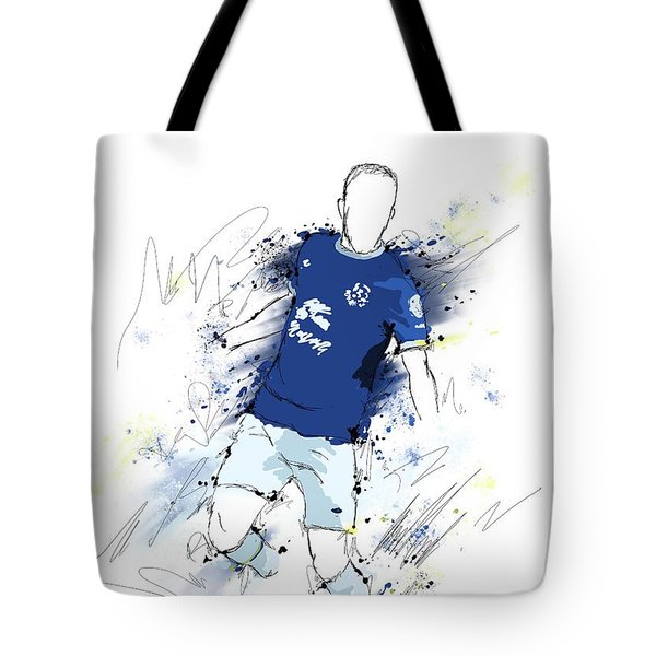 I Am Blue And White Tote Bag