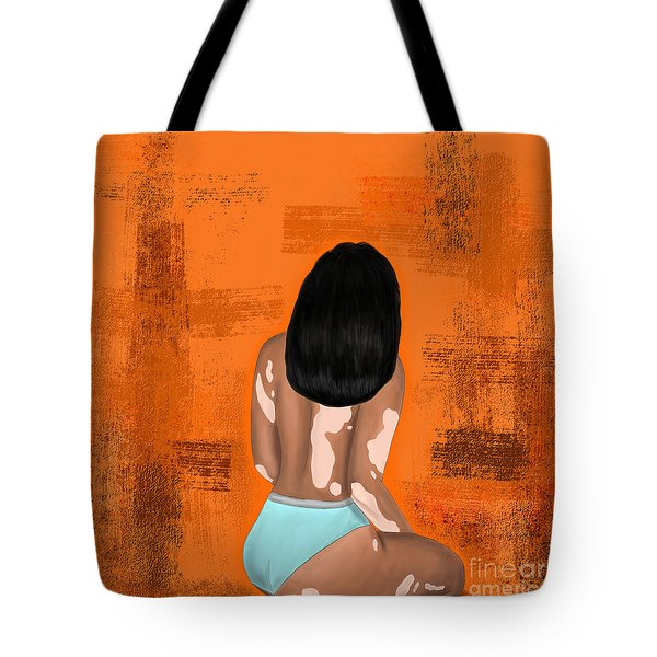 Tote Bag featuring the digital art I Am Enough by Bria Elyce
