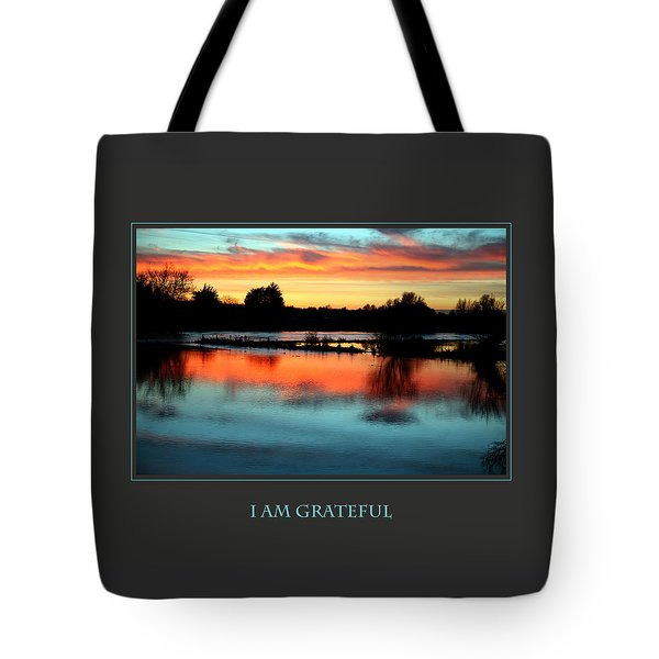 I Am Grateful Tote Bag by Donna Corless