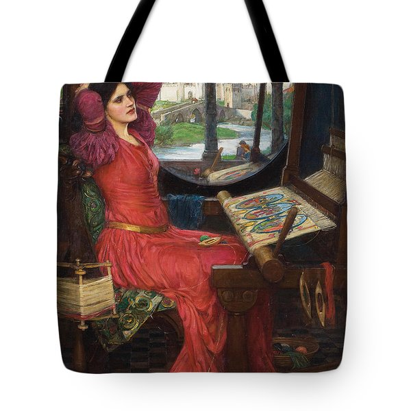 Tote Bag featuring the painting I Am Half-sick Of Shadows, Said The Lady Of Shalott by John William Waterhouse