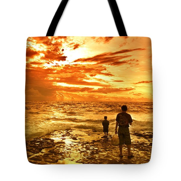 I Am Not Alone Tote Bag by Charuhas Images