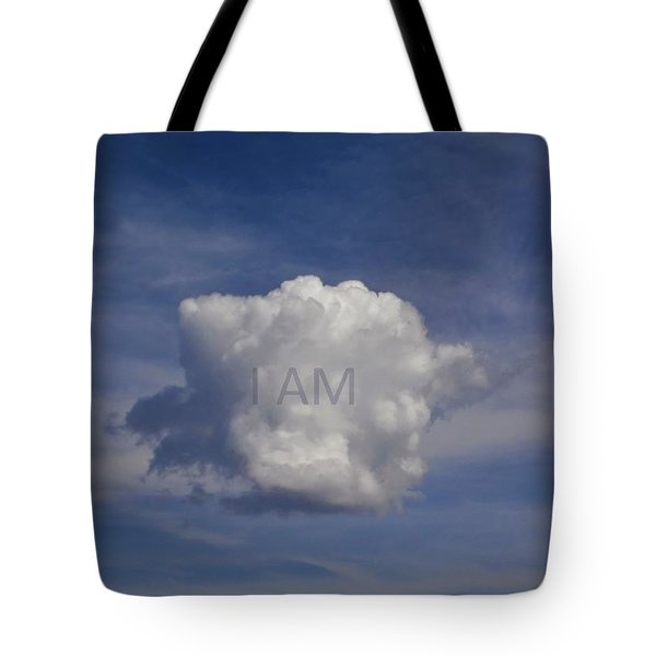 Tote Bag featuring the photograph I Am One Cloud Affirmation by Deborah Moen