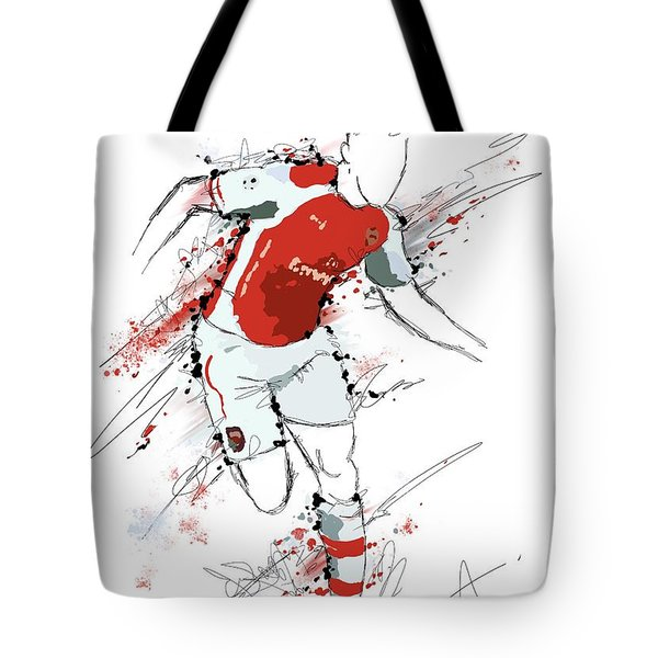 I Am Red And White Tote Bag