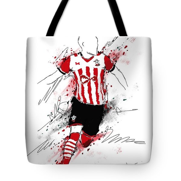 I Am Red And White Stripes Tote Bag