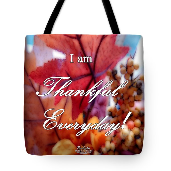 I Am Thankful # 6059 Tote Bag