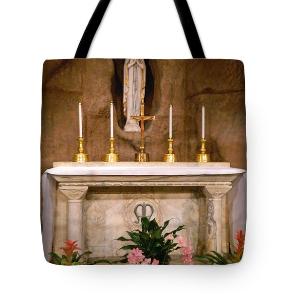 I Am The Immaculate Conception - Tiny Chapel On Crypt Level Tote Bag