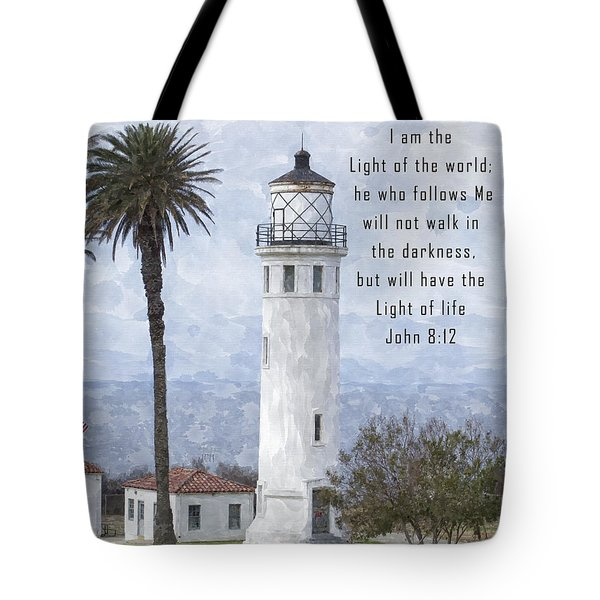 I Am The Light Of The World Tote Bag