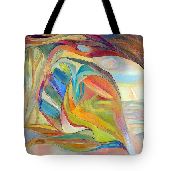 Tote Bag featuring the painting I Am The Universe by Linda Cull