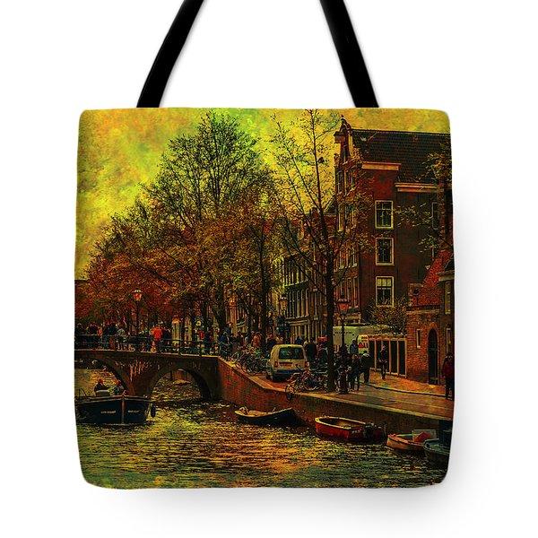 I Amsterdam. Vintage Amsterdam In Golden Light Tote Bag