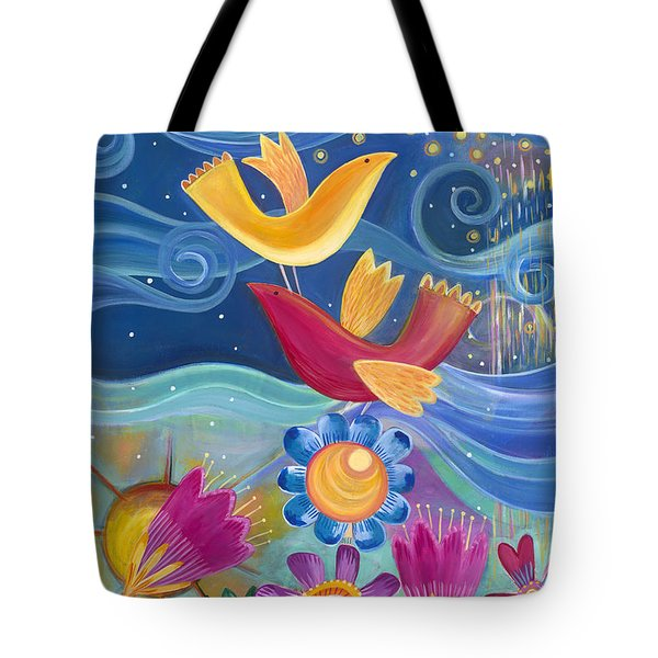 I Believe I Can Fly Tote Bag by Carla Bank