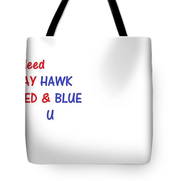 Tote Bag featuring the photograph i bleed JAYHawk by Aaron Martens