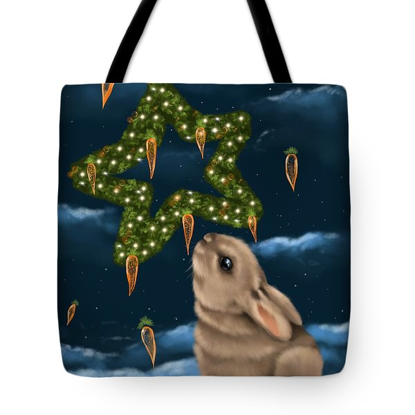 Tote Bag featuring the painting I Can Smell The Christmas In The Air by Veronica Minozzi