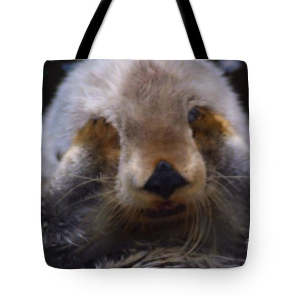 Tote Bag featuring the photograph I Can't Watch by Nick Gustafson