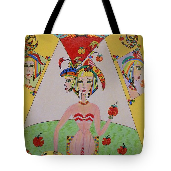 Tote Bag featuring the painting I Don't Like This Apple by Marie Schwarzer