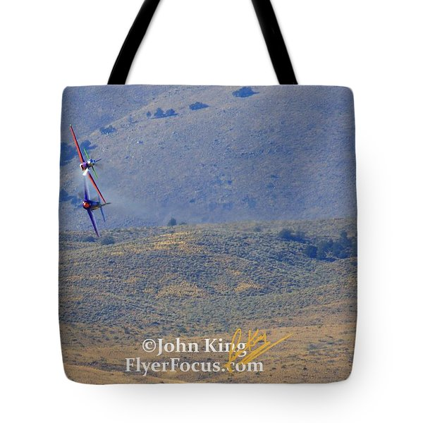 Tote Bag featuring the photograph I Double Dog Dare Ya.  Rare Bear Challenges Voodoo In Sunday's Gold Unlimited Race  by John King