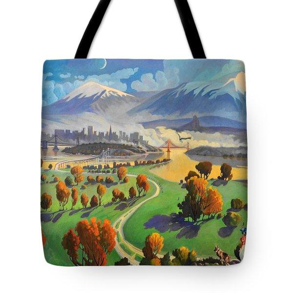 Tote Bag featuring the painting I Dreamed America by Art James West