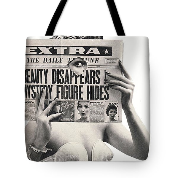 Tote Bag featuring the digital art I Dreamed I Was  Private Eye In My Maidenform Bra by Reinvintaged