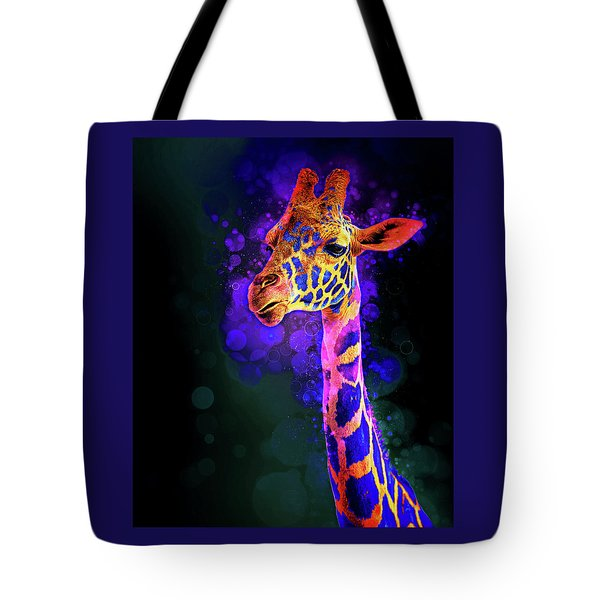 Tote Bag featuring the photograph I Dreamt A Giraffe by James Sage