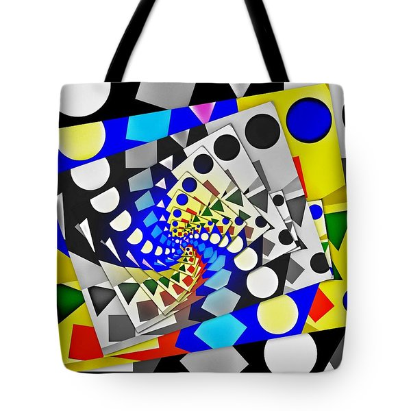 Tote Bag featuring the digital art I Fell Way Too Deep IIi by Aurelio Zucco