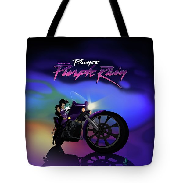 I Grew Up With Purplerain Tote Bag