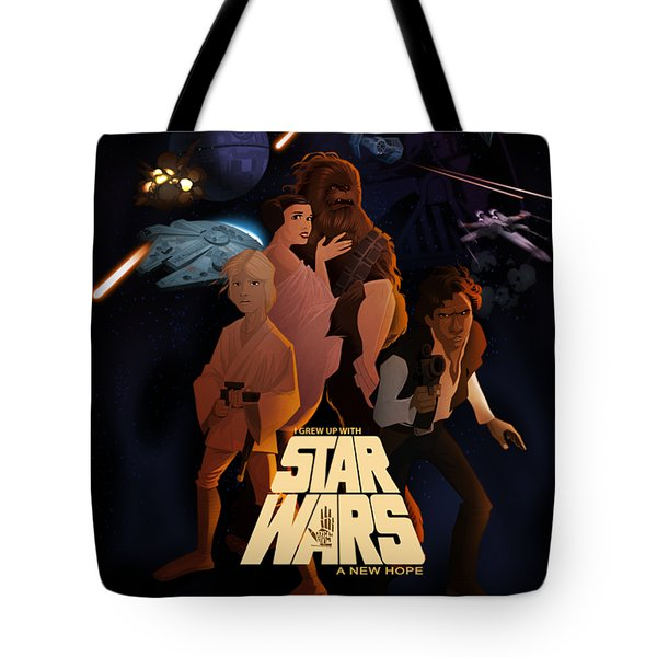 I Grew Up With Starwars Tote Bag