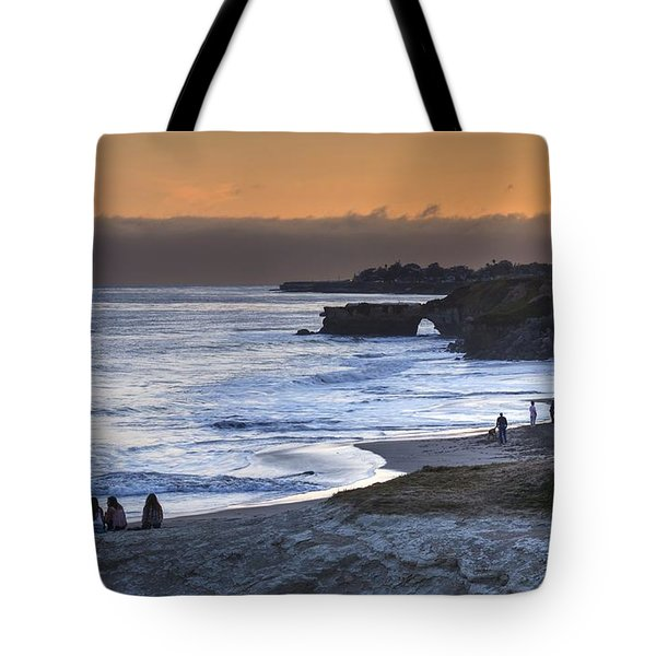 Tote Bag featuring the photograph I Had A Dream And I Stood Beneath An Orange Sky by Peter Thoeny