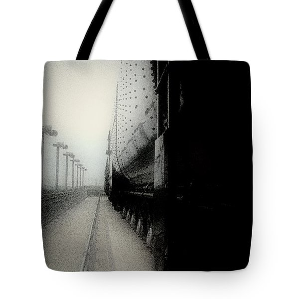 Tote Bag featuring the drawing I Hear That Lonesome Whistle Blow by RC deWinter