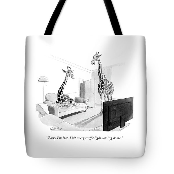 I Hit Every Traffic Light Coming Home Tote Bag